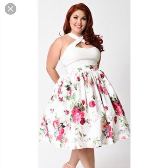 526fa2068b7 High waist swing skirt plus size